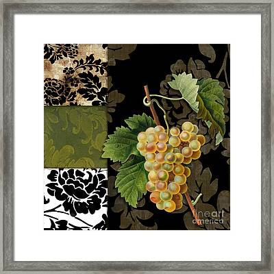 Damask Lerain Wine Grapes Framed Print by Mindy Sommers