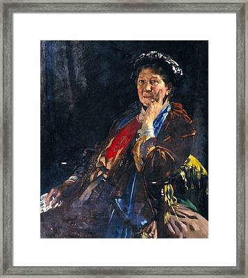 Dame Madge Kendal Framed Print by William