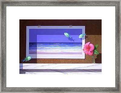 Damselfish Framed Print by Brian McCarthy