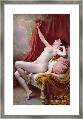 Danae Framed Print by Alexandre-Jacques Chantron