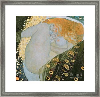 Danae Framed Print by Gustav Klimt