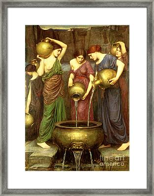 Danaides Framed Print by John William Waterhouse