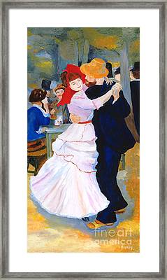 Framed Print featuring the painting Dance At Bougival After Renoir by Rodney Campbell
