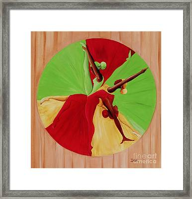 Dance Circle Framed Print by Ikahl Beckford