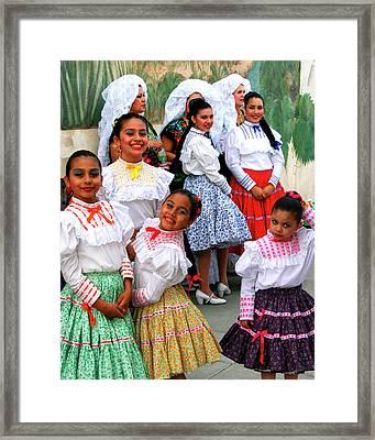 Dance Girls Dance Palm Springs Framed Print by William Dey