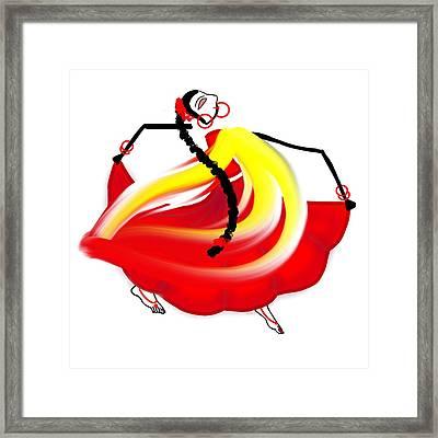 Dance Like No One's Watching Framed Print by Pratyasha Nithin