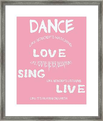 Dance Like Nobody's Watching Framed Print by Georgia Fowler