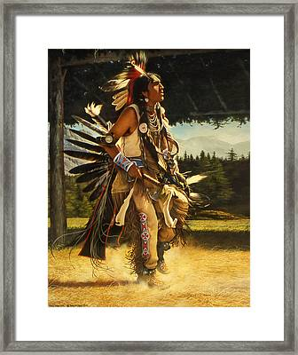 Dance Of His Fathers Framed Print by Greg Olsen