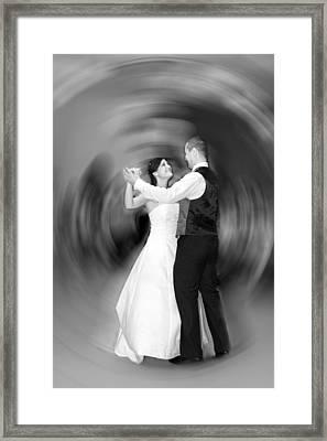 Dance Of Love Framed Print by Daniel Csoka