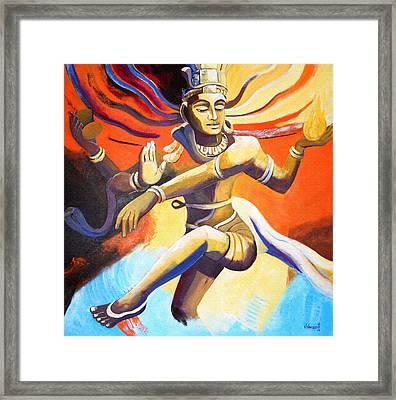 Dance Of Shiva Framed Print by Vishwajyoti Mohrhoff
