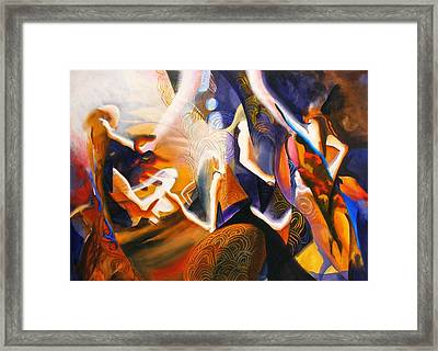 Dance Of The Druids Framed Print by Georg Douglas