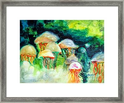 Dance Of The Jellyfish Framed Print by Kathy Braud