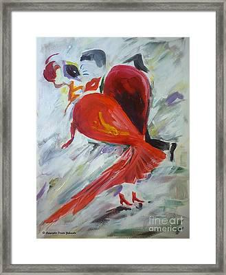 Dance Romance Framed Print by Dorota Zukowska