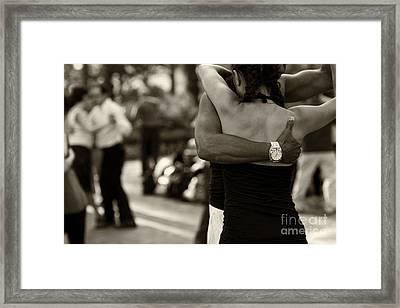 Dance With Me Framed Print by Leslie Leda