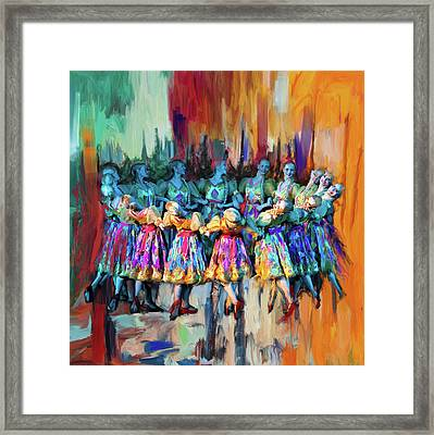 Dancer 263 2 Framed Print by Mawra Tahreem