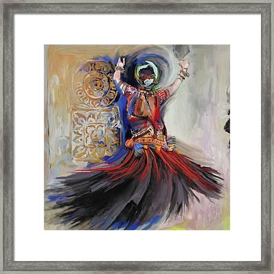 Dancer 265 1 Framed Print by Mawra Tahreem
