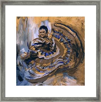 Dancer 266 3 Framed Print by Mawra Tahreem