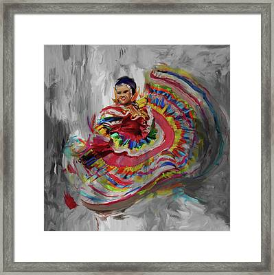Dancer 266 4 Framed Print by Mawra Tahreem