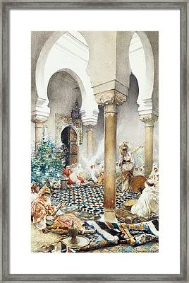 Dancer In A Harem Framed Print by Gustavo Simoni