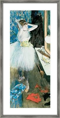Dancer In Her Dressing Room  1879 Framed Print by Edgar Degas
