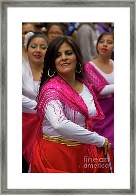 Dancer In The Pase Del Nino Parade II Framed Print by Al Bourassa