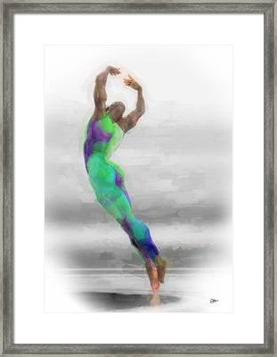 Dancer In Watercolours Framed Print by Quim Abella