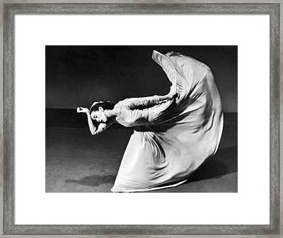 Dancer Martha Graham Framed Print by Barbara Morgan