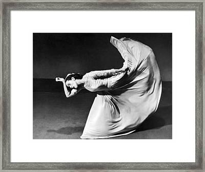 Dancer Martha Graham Framed Print by Barbara Morgan