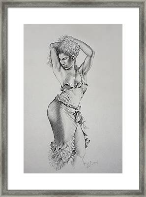 Dancer Muse Study Framed Print by Harvie Brown