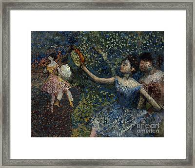 Dancer With A Tambourine Framed Print by Edgar Degas