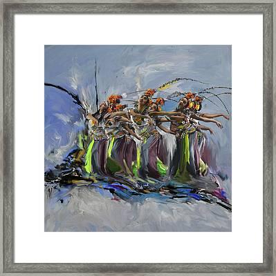 Dancers 264 2 Framed Print by Mawra Tahreem