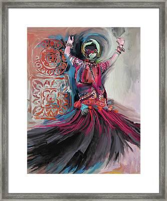 Dancers 265 3 Framed Print by Mawra Tahreem