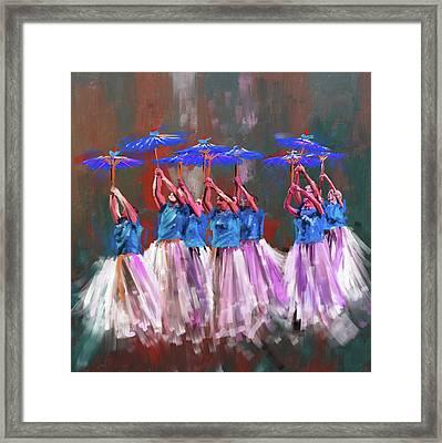 Dancers 267 1 Framed Print by Mawra Tahreem