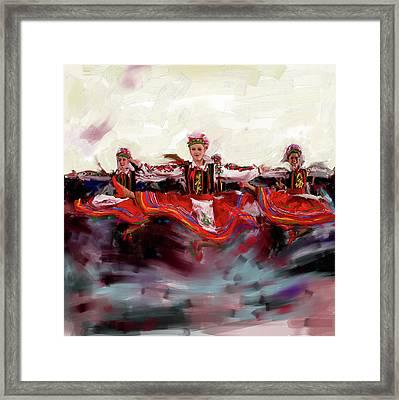 Dancers 268 2 Framed Print by Mawra Tahreem
