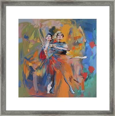 Dancers 278 1 Framed Print by Mawra Tahreem