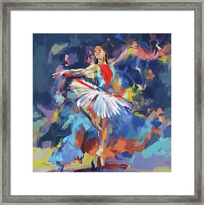 Dancers 279 1 Framed Print by Mawra Tahreem