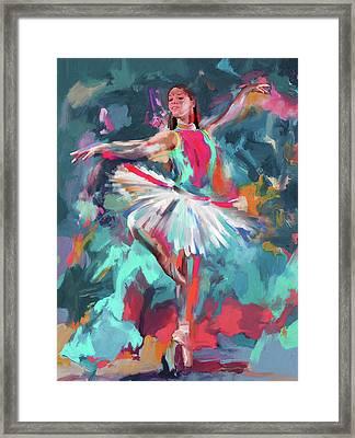 Dancers 280 2 Framed Print by Mawra Tahreem