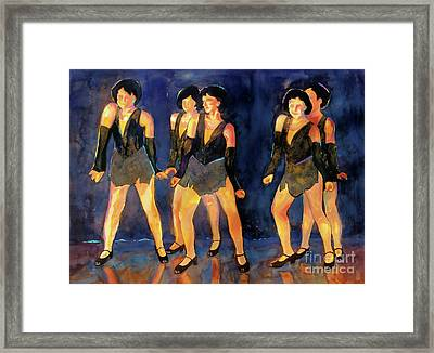 Dancers  Spring Glitz     Framed Print by Kathy Braud