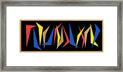 Dancing Abstractions Framed Print by Little Bunny Sunshine
