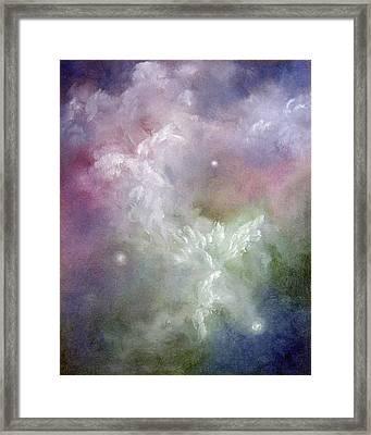 Dancing Angels Framed Print by Marina Petro