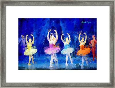 Dancing Beauty - Pa Framed Print by Leonardo Digenio