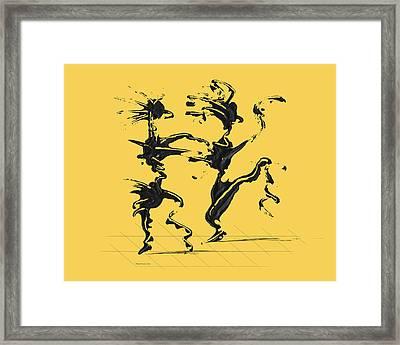 Dancing Couple 4 - Primrose Yellow Framed Print by Manuel Sueess