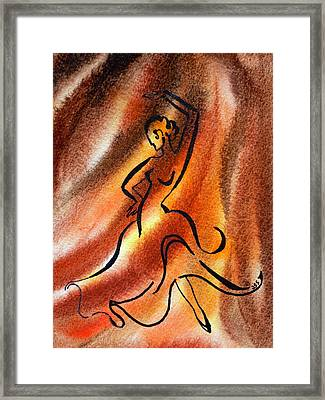 Dancing Fire IIi Framed Print by Irina Sztukowski