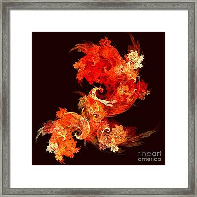 Dancing Firebirds Framed Print by Oni H