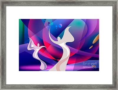 Dancing Ghosts Framed Print by Bedros Awak