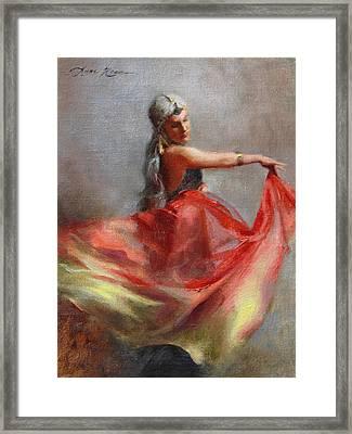 Dancing Gypsy Framed Print by Anna Rose Bain