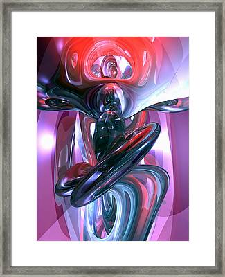 Dancing Hallucination Abstract Framed Print by Alexander Butler