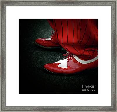 Dancing In Retro  Framed Print by Steven  Digman