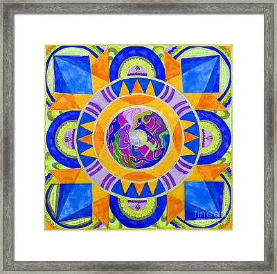 Dancing In The Light Framed Print by Dinah Jarvis
