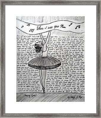 Dancing Lyrics Framed Print by Chenee Reyes